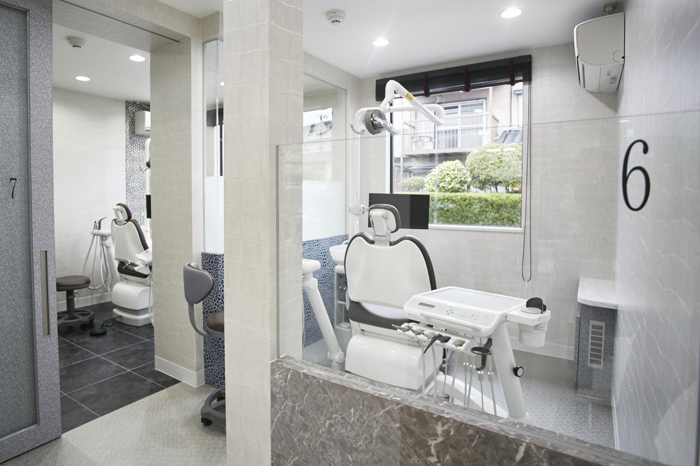 リラックスして受診していただくためにー個室メンテナンスルームイメージ画像。おがた歯科の個室メンテナンスルーム