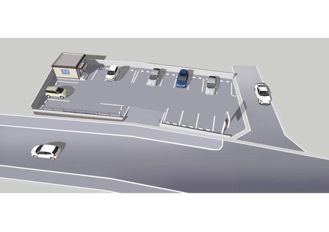 おがた歯科新駐車場